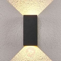 Bilaterally luminous, outdoor LED wall lamp Kimian Led Outdoor Wall Lights, Applique Led, Led Wall Lamp, Grey Paint, Outdoor Areas, Energy Efficiency, Lighting Design, Wall Lighting, Sconces