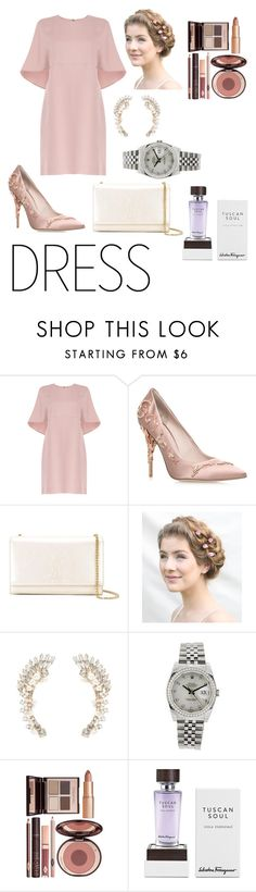 """""""Untitled #193"""" by sweetaoife on Polyvore featuring Valentino, RALPH & RUSSO, Yves Saint Laurent, Charlotte Russe, Rolex, Charlotte Tilbury and Salvatore Ferragamo"""