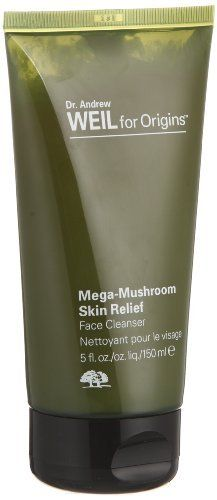 Origins Mega-Mushroom Skin Relief Face Cleanser 5 oz by Origins. $27.99. An ultra mild, milky lotion cleanser. What it is:A gentle lotion with a milky texture to cleanse the complexion while preventing signs of aging. What it is formulated to do:This extremely gentle lotion-cleanser removes makeup, dirt, and impurities without upsetting skin's naturally protective lipid balance. Dr. Weil's mushroom blend, including hypsizygus ulmarius, cordyceps and reishi mushrooms, joi...