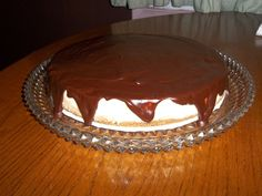 Classic Chocolate Glazed Cheesecake