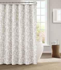 decorative shabby chic fabric shower curtain gray kensie httpwww