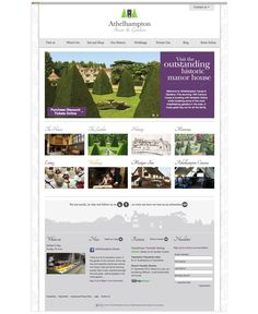 Athelhampton House website design