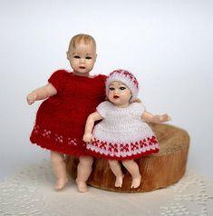 Miniature dresses for Heidi Ott toddler and baby Dollhouse