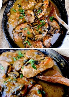 Pork Medallions in Mushroom-Marsala Sauce Pork Scallopini, Pork Cutlets, Pork Chops, Pork Sausage Recipes, Pork Chop Recipes, Marsala Sauce, Pork Marsala, Pork Medallions, Pork Dishes