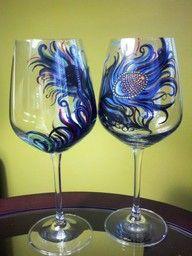 wine glass artwork!