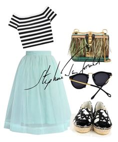 """blu"" by omahtawon ❤ liked on Polyvore featuring Alice + Olivia, Valentino, Chicwish and Chanel"