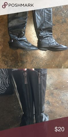 Size 9 black mid length boots These are super cute I am just not into the mid length boots anymore there is nothing wrong with them still in great condition just don't wear them! Shoes Ankle Boots & Booties