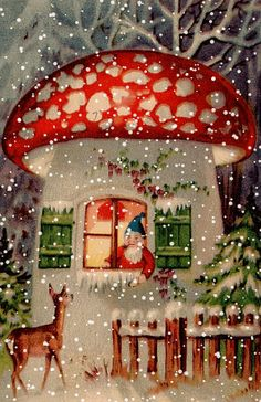 A magical little treat just for you. A happy Christmas dream. S… A magical little treat just for you. A happy Christmas dream. Santa's coming. Christmas Scenes, Noel Christmas, Christmas Greetings, Winter Christmas, Christmas Crafts, Animated Christmas Cards, Funny Christmas, Christmas Ideas, Retro Christmas Decorations
