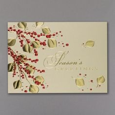 Holiday Cards - Elegant Touch Holiday Card | Occasions In Print, LLC (Card Link - http://occasionsinprint.carlsoncraft.com/Holiday/Seasons-Greetings-Cards/YM-YMX5803-Elegant-Touch-Holiday-Card.pro#imageSelect=141486)