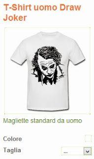 T-Shirt uomo Draw Joker  Magliette standard da uomo  T-shirt con taglio classico, da uomo, 100% cotone, marca: Spreadshirt     Dettagli  T-Shirt uomo Joker