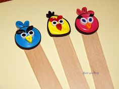 Angry birds quilling könyvjelzők