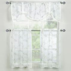 Corsica Window Curtain Tier Pair from Bed Bath & Beyond $20-25