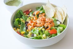 Shrimp and Avocado Taco Salad from Cook Smarts