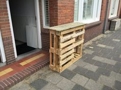 BBQ Side Table Made From 2 Old Pallets & Old Boards Desks & Tables Terraces & Patios