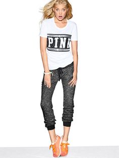 Shop PINK apparel for cute tops, tees, hoodies, leggings, joggers and more! Pink Outfits, Casual Outfits, Cute Outfits, Fashion Outfits, Winter Outfits, Victoria Secret Outfits, Victoria Secret Pink, Pink Flip Flops, Big Girl Fashion