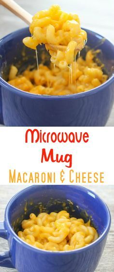 Kids Meals Microwave Macaroni and Cheese in a Mug. This macaroni and cheese is ready in about 5 minutes! - This macaroni and cheese in a mug is ready in less than 5 minutes. It makes a quick, easy meal for one. Easy Meals For One, Quick Easy Meals, Mug Cake Receta, Microwave Mug Recipes, Microwave Meals, Mac And Cheese Microwave, Pasta Recipes, Cooking Recipes, Mugs