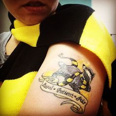 """You might belong in Hufflepuff"" #tattoo #hufflepuff #hufflepufftattoo #hufflepuffpride  #harrypotter #harrypottertattoo"