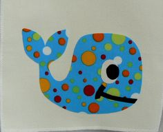 Whale Applique - All of my appliques are mailed to you cut out and ready for you to iron on. montanatwirls.com...
