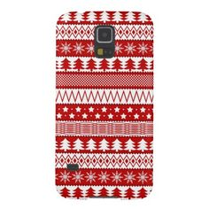 Holiday Red Stripes Pattern Galaxy S5 Cover