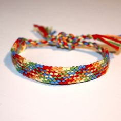 Plaid friendship bracelet