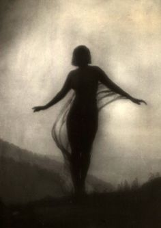 """By Anne Brigman, 1918. A photographer I discovered in Photo History. I love her work, so dream like. Exposures were often soft."""