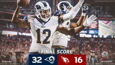 Game #12 2017 Rams win Cardinals, LA Rams-32 vs. Cardinals-16 @ Arizona, Rams improves to 9-3, 1st NFC West. (twitter.image) 12.3.17 (Sun) #1/4