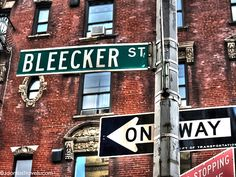 Bleecker Street, Greenwich Village, New York City.  My direct relatives settled here!  -Jenna Bleecker