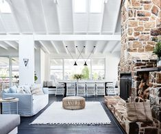 Renovated coastal farmhouse gets a breath of fresh air is part of Rustic Boho home - You can stay in this rustic holiday home on the NSW South Coast that's styled with a relaxed palette and natural textures Beach Cottage Style, Beach Cottage Decor, Coastal Style, Coastal Farmhouse, Coastal Cottage, Coastal Homes, Coastal Decor, Coastal Country, Beach Homes