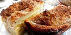 Torta de banana rápida feita com massa de farofa
