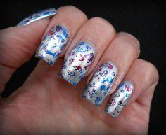 Foil manicure http://polishalcoholic.com/2013/04/27/essie-no-place-like-chrome/