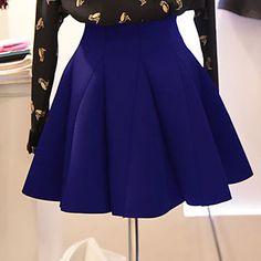 Women's Casual Cute Work Micro Elastic Medium Above Knee Skirts