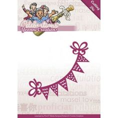 Stencil Die Yvonne Creations - Celebrations - Bunting YCD10049