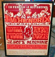 The Jimi Hendrix Experience at the Atlanta Municipal Auditorium August 17, 1968
