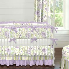 Purple Heather Fl Crib Bedding Carousel Designs Reminiscent Of The Beautiful Fields