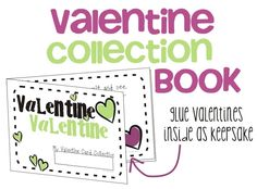 Free Valentine Card Collection booklet for students