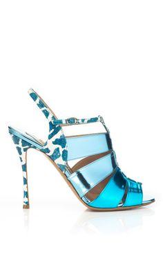 Metallic Sandal by Nicholas Kirkwood Now Available on Moda Operandi