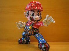 Artista Japonês MACAON cria esculturas com latinhas de alumínio. #Mario