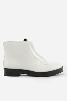 30 Boots To Kick Into Spring  #refinery29  http://www.refinery29.com/spring-booties#slide-14  Charles & Keith Zip-Up Ankle Boots, $93, available at Charles & Keith.