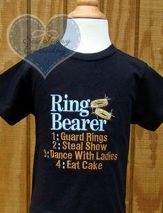 Ring Bearer tshirt :)