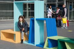 ILOCZYNY / modułowy mebel miejski / projekt Izabela Bołoz / fot, Studio Izabela Boloz