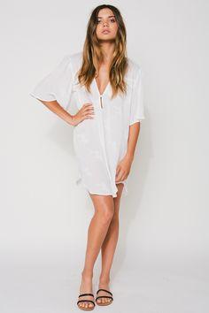 eb43fbee5bde Flynn Skye Spring 16 Bailey Dress in White Cluster