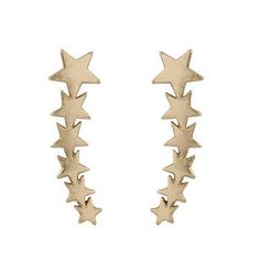 These gold ear climbers: | 29 Celestial Accessories You'll Be Over-The-Moon For