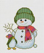 Snowman cross stitch kits