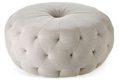 One Kings Lane - Moving Pieces - Haley Ottoman, Beige