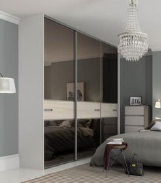 Spaceslide is the UK's Number 1 for made to measure sliding wardrobe doors and interiors, as well as fitted wardrobes, sliding doors and bedroom furniture. Sliding Door Design, Sliding Glass Door, Sliding Doors, Sliding Wardrobe Doors, Mirrored Wardrobe, Bronze Mirror, Grey Glass, Wardrobe Design, Wardrobes