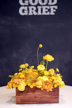 yellow wedding flowers