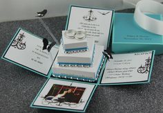 TIFFANY BLUE WEDDING INVITATIONS This is actually incredible! - Custom order invitations for the wedding and quite cheap for what it is too!