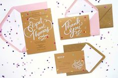Elspet + Thomas Whimsical Hand Lettered Wedding Invitations | Oh So Beautiful Paper