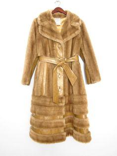 Vintage Faux Fur Coat / evamaniadesign on etsy