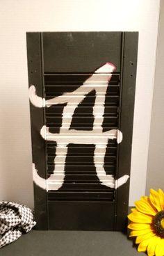 Alabama Crimson Tide Home Decor Shutter Decorative Shutter